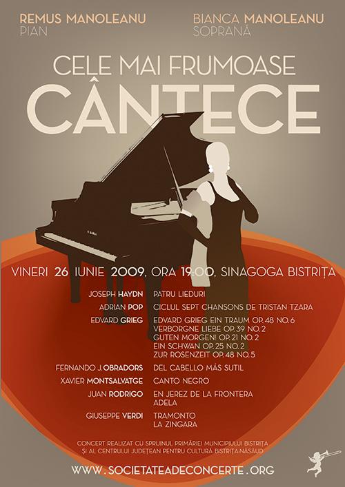 Cele mai frumoase cantece – Bianca Manoleanu (soprana) si Remus Manoleanu (pian)