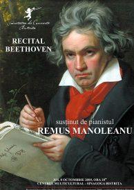 Recital Beethoven – sustinut de pianistul REMUS MANOLEANU- 8 octombrie 2009, ora 18,000 Sinagoga Bistrita