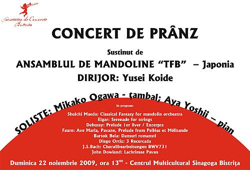 """CONCERT DE PRANZ – ANSAMBLUL DE MANDOLINE """"TFB""""  – Japonia"""