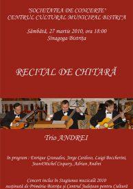 Recital de chitara: Trio Andrei