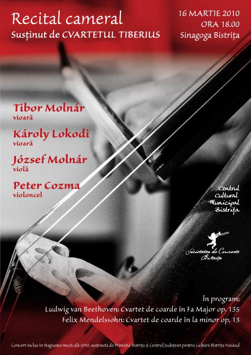 Recital Cameral: Cvartetul Tiberius