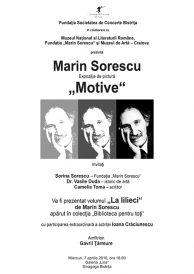 "Expozitie de pictura: ""Motive"" Marin Sorescu"