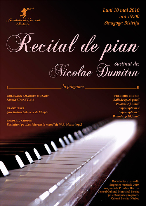 Recital de pian – Nicolae Dumitru
