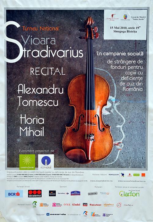Turneu National Vioara Stradivarius: Recital Alexandru Tomescu si Horia Mihail