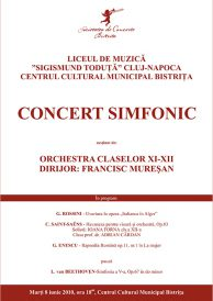 "Concert simfonic sustinut de Liceul de Muzica ""Sigismund Toduta"" Cluj-Napoca"