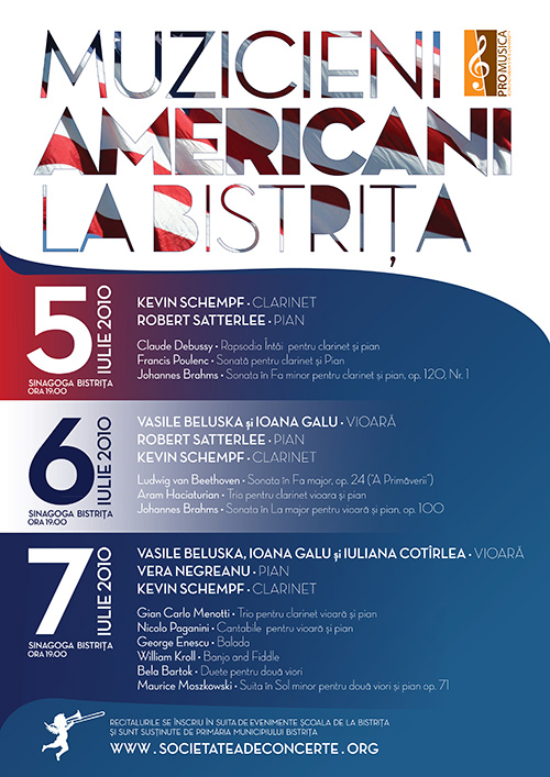 Recitaluri sustinute de muzicieni americani la Bistrita