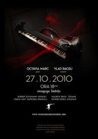 Invitatie Recital extraordinar: OCTAVIA MARC pian, VLAD RACEU vioară