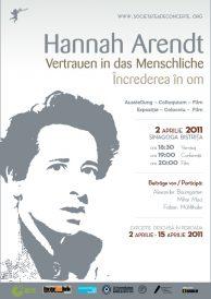 """Expozitia-colocviu-film """"Hannah Arendt – Increderea in om"""""""