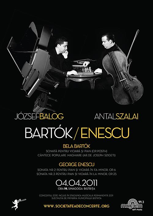 Recital Extraordinar Enescu/Bartók sustinut de Antal Szalai si Joszef Balog