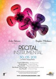 Recital Instrumental: Anda Petrovici (vioara) si Bogdan Mihailescu (chitara)