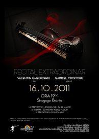 Recital extraordinar: Valentin Gheorghiu-pian si Gabriel Croitoru-vioara