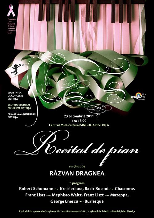 Recital de pian sustinut de Razvan Dragnea