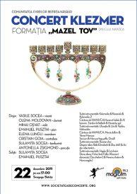"Concert Klezmer: Formatia ""Mazel Tov"" din Cluj-Napoca"