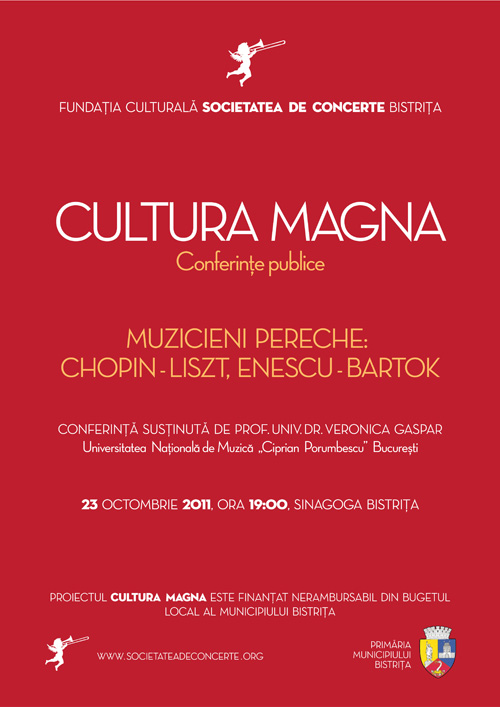 Cultura Magna – Conferinta: Muzicieni pereche: Chopin-Liszt, Enescu-Bartok