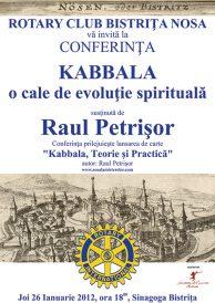 "Conferinta ""Kabbala, o cale de evolutie spirituala"""