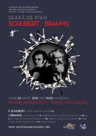 Seară de pian: F. Schubert și J. Brahms