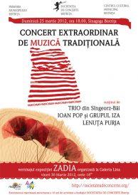 Concert extraordinar de muzică tradițională