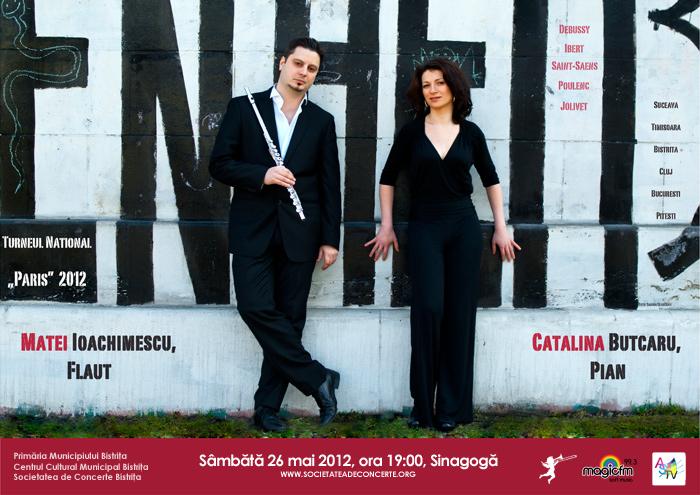 """Recital extraordinar """"Paris"""", Matei Ioachimescu – flaut şi Cătălina Butcaru – pian"""