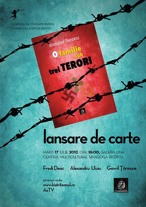 Lansare de carte: O familie sub trei terori – Romulus Berceni