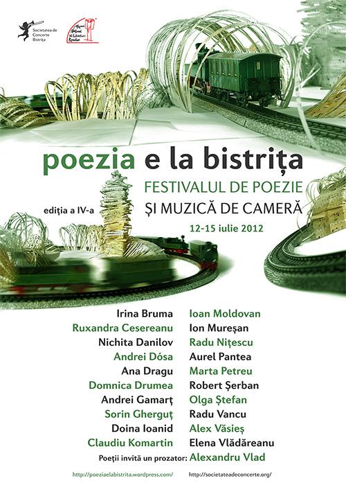 Festivalul de poezie si muzica de camera: Poezia e la Bistrita, ed. a IV-a, 2012