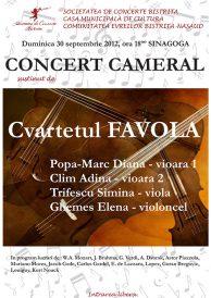 Concert cameral sustinut de Cvartetul Favola