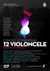 Concert extraordinar 12 violoncele: ansamblul Napocelli