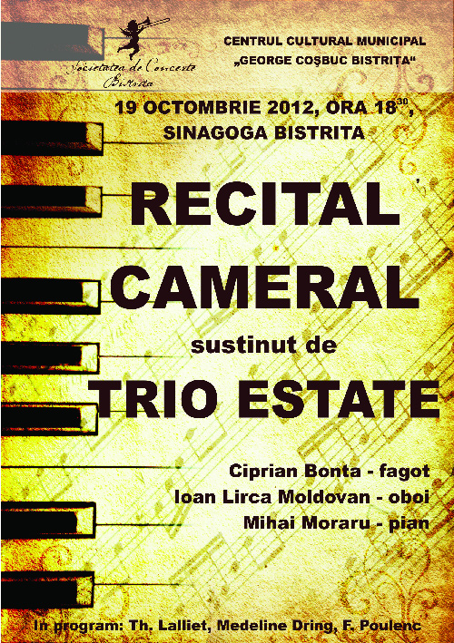 Recital cameral sustinut de Trio Estate
