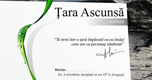 """Lansare roman """"Tara ascunsa"""" Alexandru Uiuiu"""
