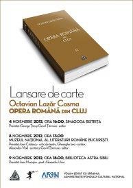Lansare de carte: Octavian Lazar Cosma – Opera Romana din Cluj – vol 2