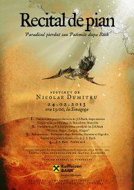 Recital de pian: Paradisul pierdut sau Patimile dupa Bach
