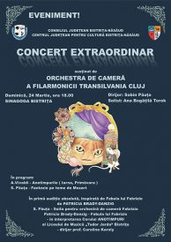 Concert extraordinar sustinut de orchestra de camera a Filarmonicii Transilvania Cluj