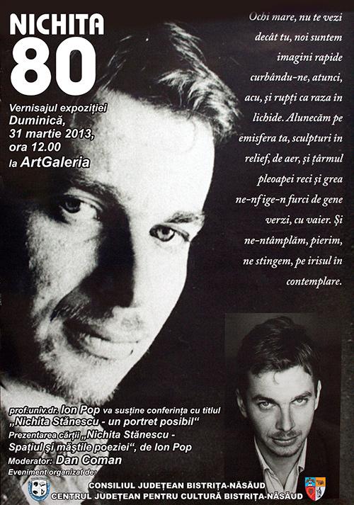Poster Expozitie Nichita 80