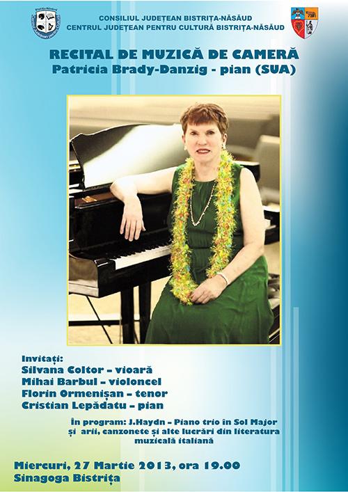 Recital de muzica de camera sustinut de Patricia Brady-Danzig (SUA)