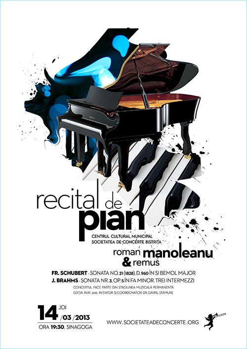 Recital de pian sustinut de Roman si Remus Manoleanu