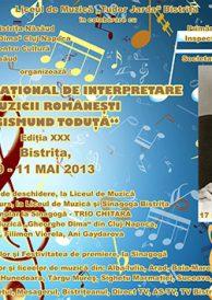 """Concursul național de interpretare a muzicii românești """"Sigismund Toduță"""", Ediția XXX, 2013"""