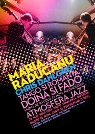Concert extraordinar, atmosferă jazz cu Maria Răducanu (voce) și Chris Dahlgren (contrabas, USA)