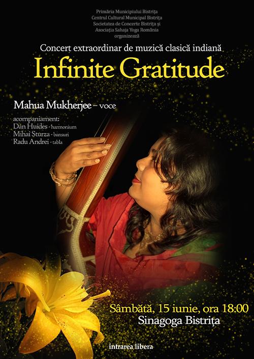 """Concert extraordinar de muzică clasică indiană """"Infinite Gratitude"""""""