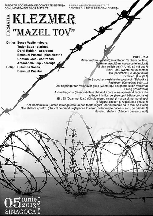 Posterm klezmer Mazel Tov
