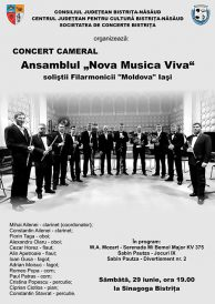 "Concert cameral ansamblul Nova Musica Viva cu soliștii Filarmonicii ""Moldova"" din Iași"