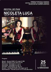 Recital de pian susținut de Nicoleta Luca