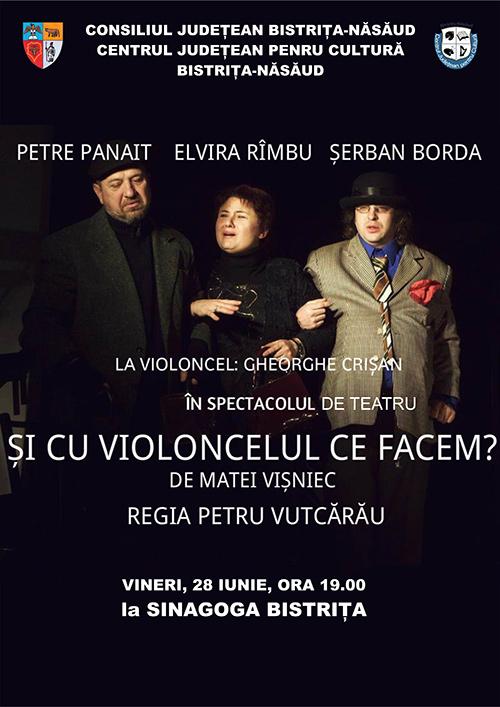 """Spectacol de teatru """"Și cu violoncelul ce facem?"""" de Matei Vișniec"""