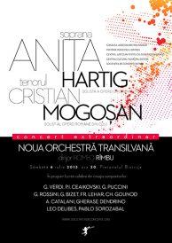Concert extraordinar susținut de soprana Anita Hartig și tenorul Cristian Mogoșan împreună cu Noua Orchestră Transilvană