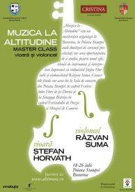 Muzica la altitudine: master class de vioară și violoncel