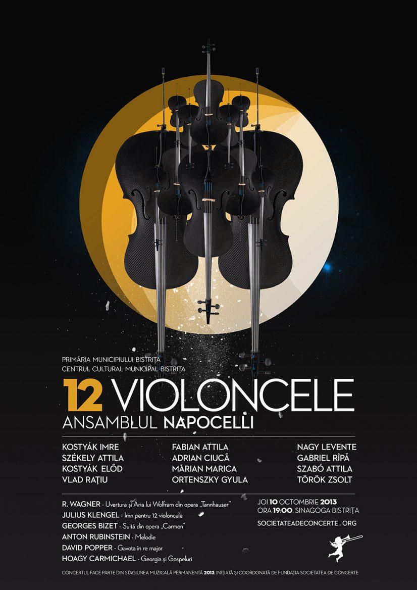 Concert extraordinar 12 violoncele susținut de ansamblul Napocelli