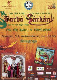 Spectacol inedit de muzică medievală și dansuri vechi stilizate susținut de menestrelii BORDÓ SÁRKÁNY (Dragonul Bordó) din Ungaria, trupa de dans Nosa și jonglerii de la SiriuS