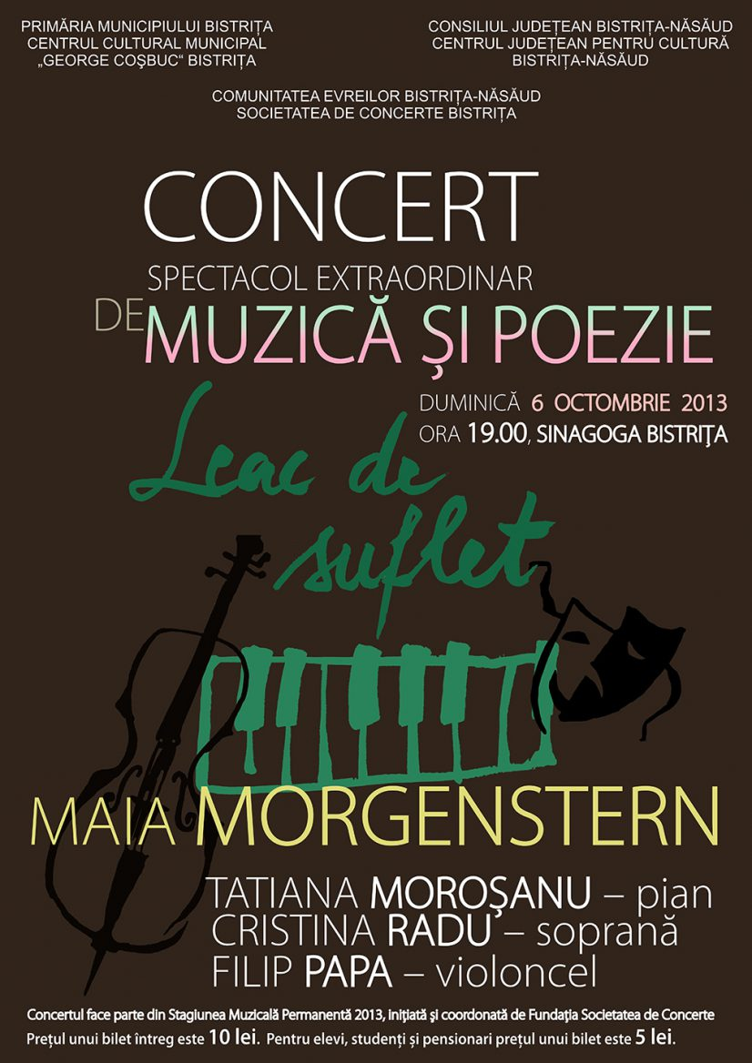 Concert – spectacol extraordinar de muzică și poezie: Leac de suflet