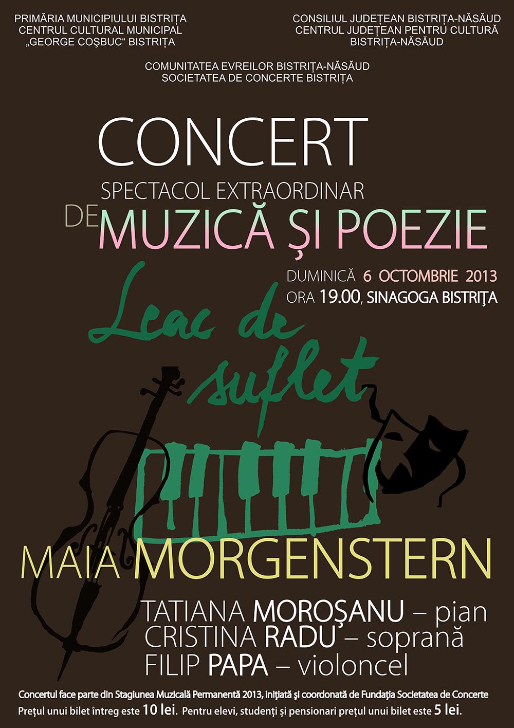Poster concert Leac de suflet