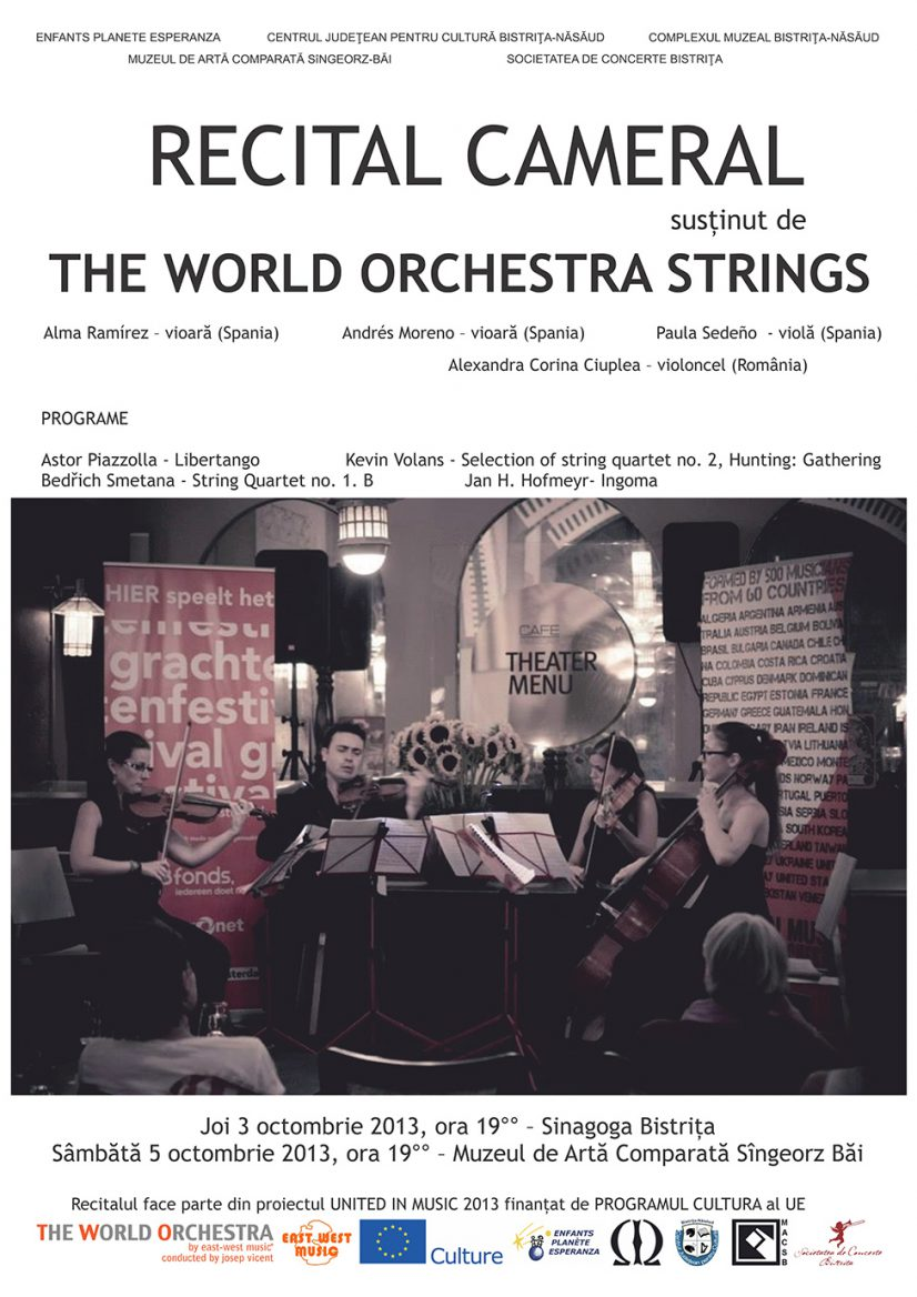 Recital cameral susținut de The World Orchestra Strings
