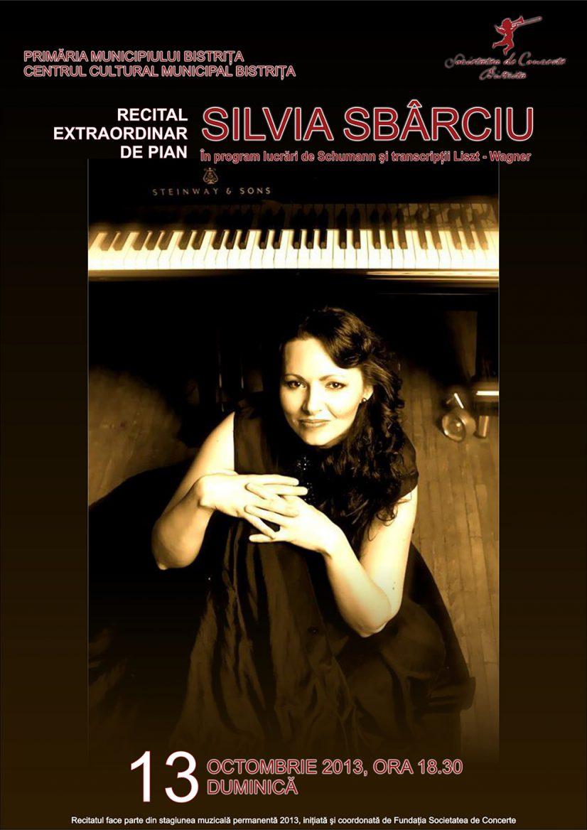 Recital extraordinar de pian susținut de Silvia Sbârciu
