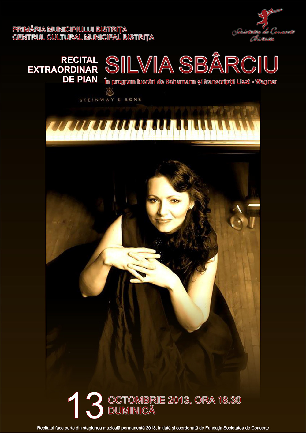 Poster recital Silvia Sbârciu